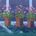 Five pink geraniums 24cms x 30cms £60