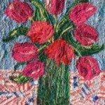 Nine pink tulips 10ins x 12 £95