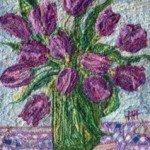 Purple tulips 10ins x 12 £95
